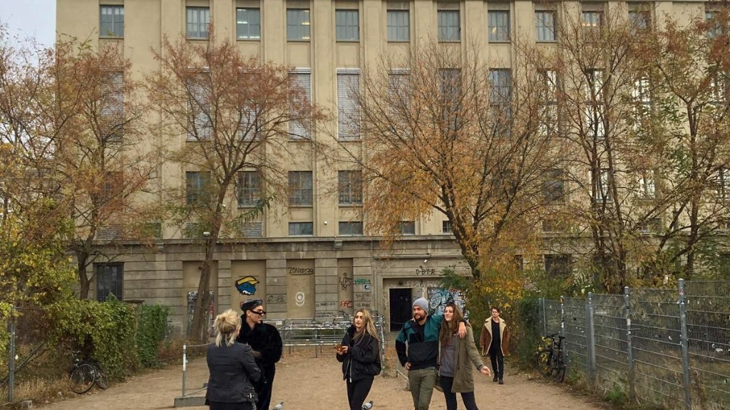 party goers outside of Berghain Berlin