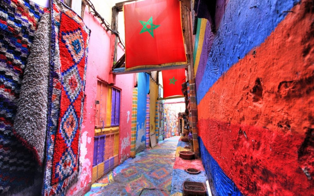 morocco colour destination banner